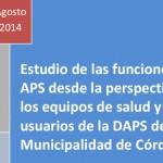 Estudio de las funciones de la APS desde la perspectiva de los equipos de salud y usuarios de la DAPS de la Municipalidad de Córdoba